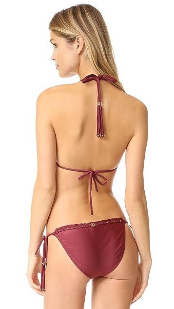 ViX Swimwear Burgundy Triangle Bikini Top