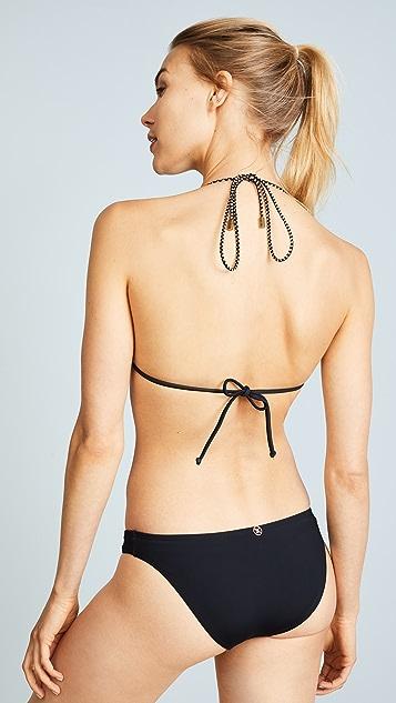 ViX Swimwear Betsey Black Loop Triangle Bikini Top