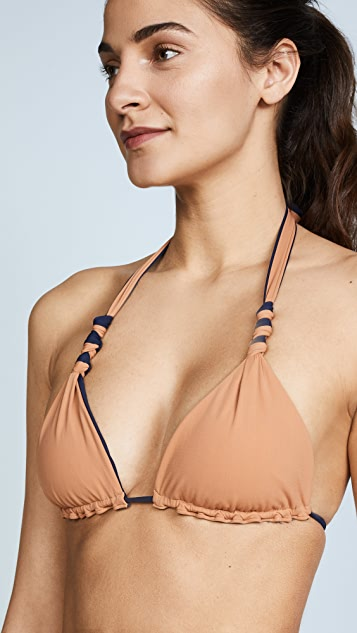 ViX Swimwear Midnight Reversible Bikini Top