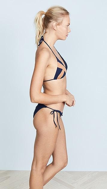 ViX Swimwear Midnight Wave Triangle Top