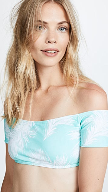 ViX Swimwear Feathers Off Shoulder Top