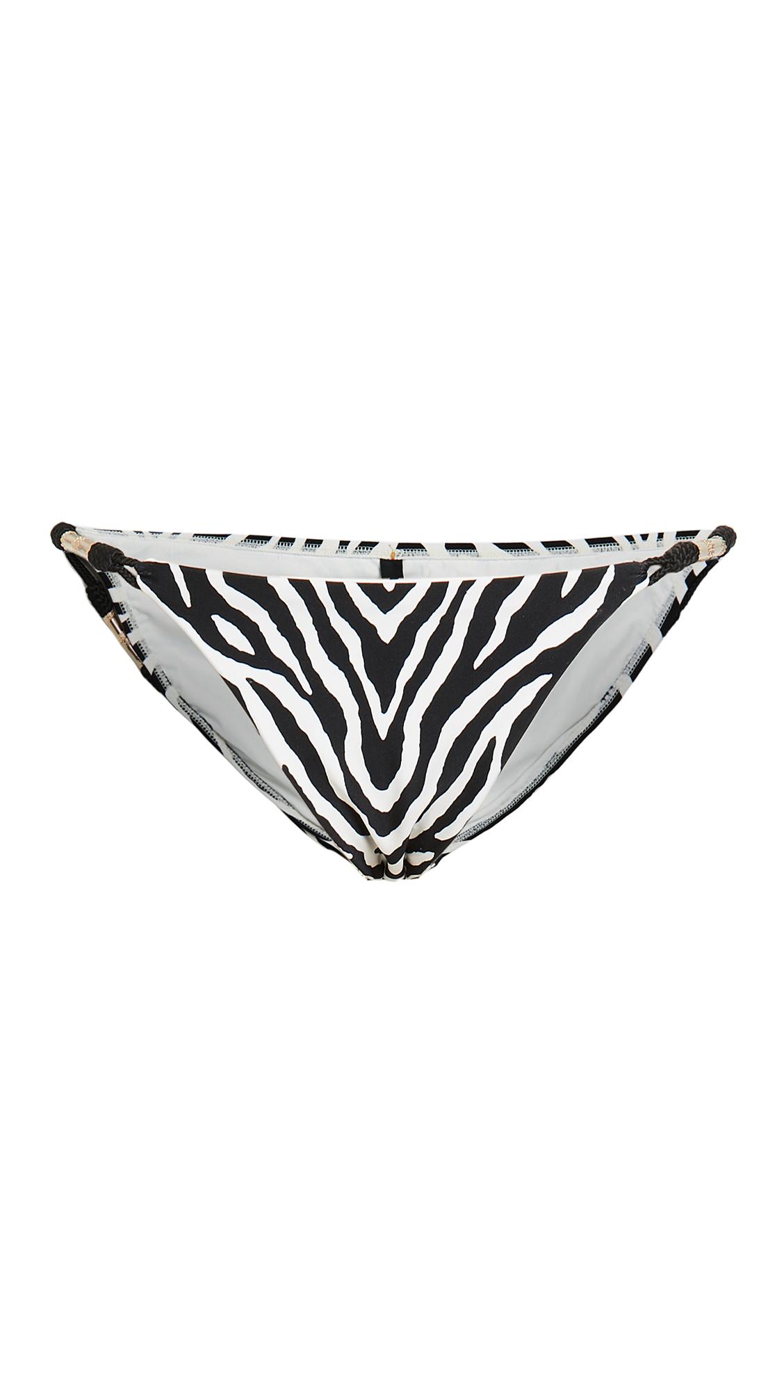 ViX Swimwear Fioella Black Trim Roll Bikini Bottoms
