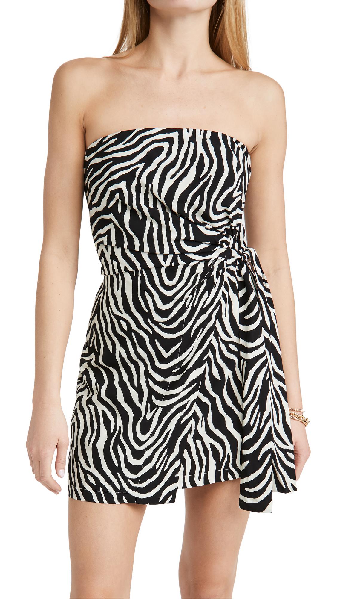ViX Swimwear Fiorella Black Carolina Short Dress
