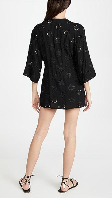 ViX Swimwear Black Lara Kimino