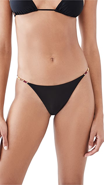 ViX Swimwear Solid Nic 系带比基尼泳裤