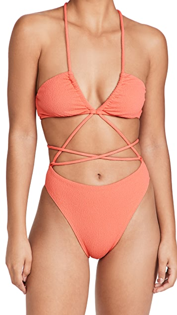 ViX Swimwear Firenze Lila 连体比基尼