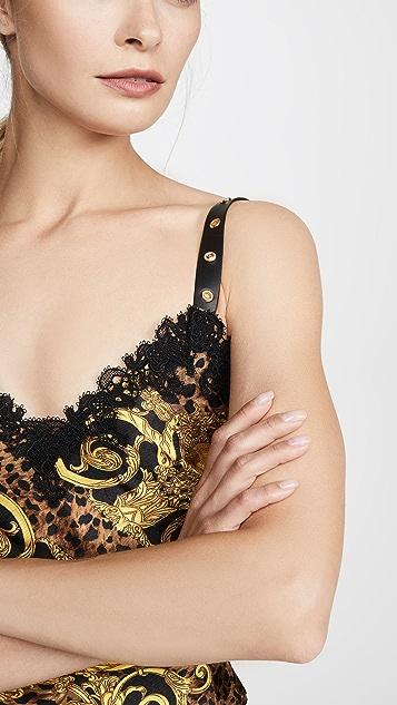 Versace Jeans Couture 印花天鹅绒连衣裙