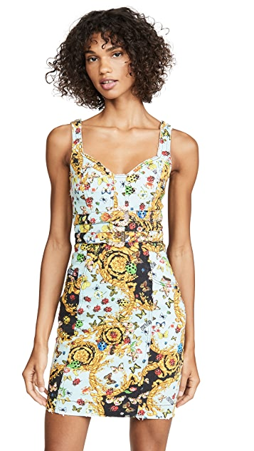 Versace Jeans Couture Denim Printed Dress