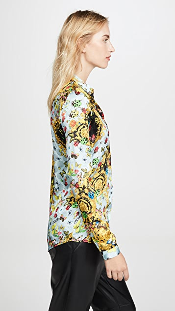 Versace Jeans Couture Floral Printed Button Down
