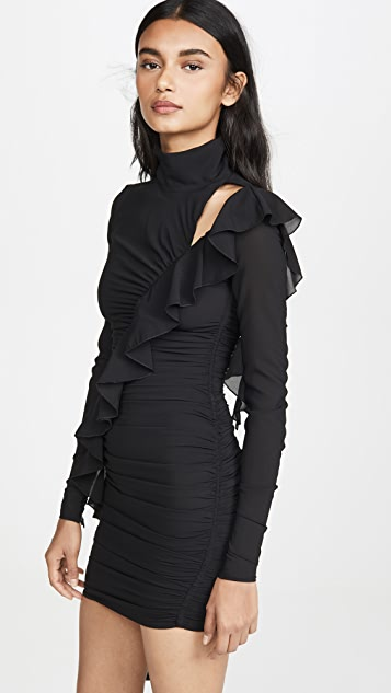 Versace Jeans Couture Cross Ruffle Dress
