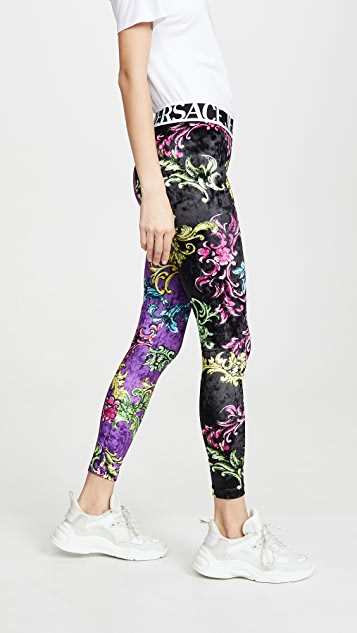 Versace Jeans Couture Printed Leggings