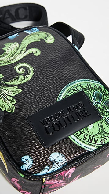 Versace Jeans Couture Baroque Print Small Crossbody Bag
