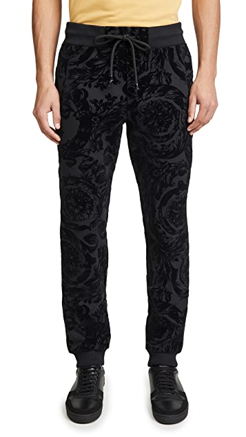 Versace Jeans Couture Flocked Paisley Track Pants