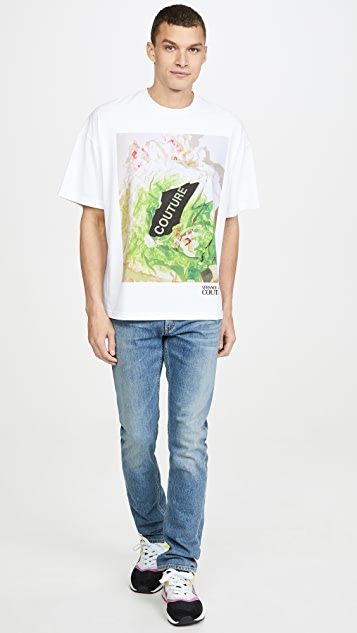 Versace Jeans Couture Couture Floral Print T-Shirt