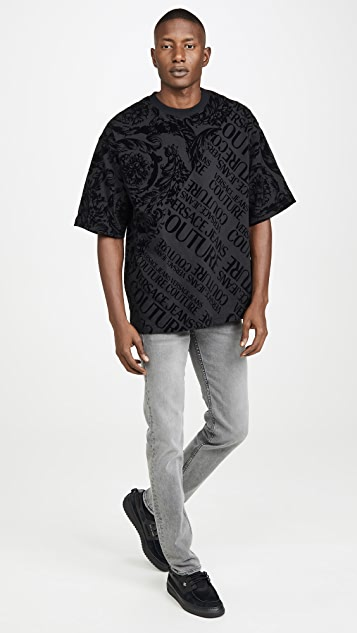 Versace Jeans Couture Flocked Paisley T-Shirt