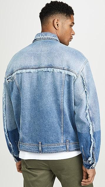Versace Jeans Couture Rip And Repair Denim Jacket