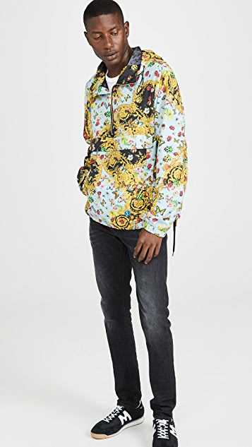 Versace Jeans Couture Lady Bug Print Nylon Pullover