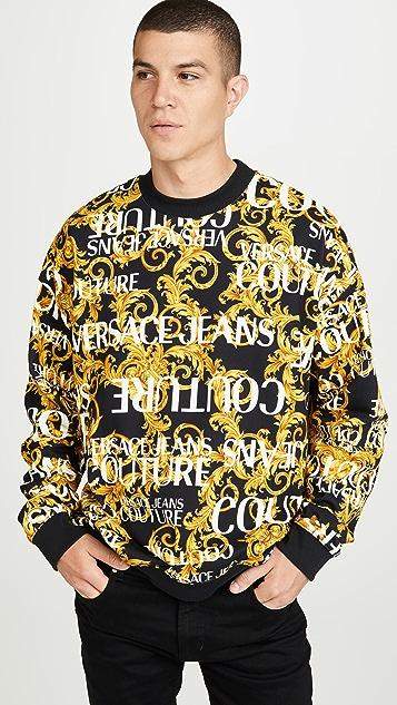 Versace Jeans Couture Logo Baroque Crew Neck Sweatshirt