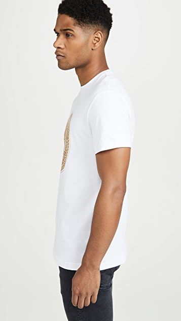 Versace Jeans Couture Gold Medallion Logo Tee