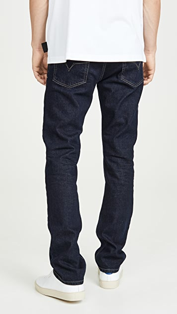 Versace Jeans Couture Pure Denim Slim Fit Jeans with Triple Gold Stitch