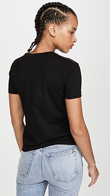 Versace Jeans Couture Mesh Inset Logo Tee