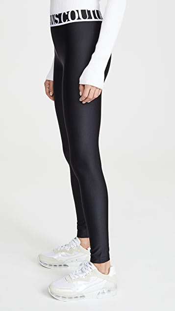 Versace Jeans Couture 弹性徽标贴腿裤