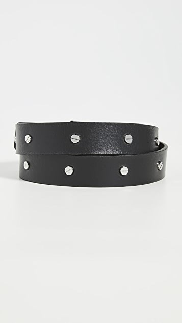 Versace Jeans Couture Silver Studded Belt