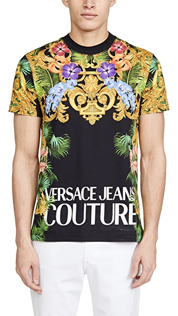 Versace Jeans Couture All Over Versace Print T-Shirt