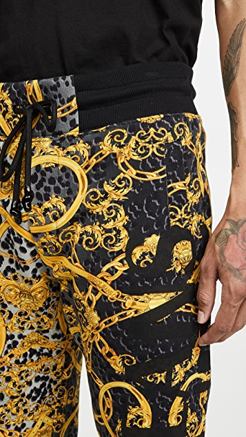 Versace Jeans Couture All Over Versace Print Sweatpants