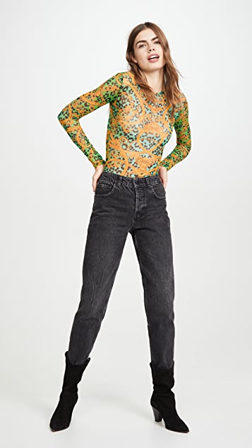 Versace Jeans Couture 网眼织物 T 字紧身连衣裤