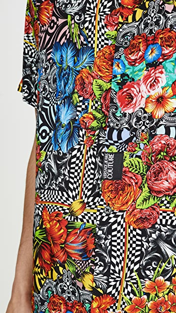 Versace Jeans Couture Optical Flower Shirt