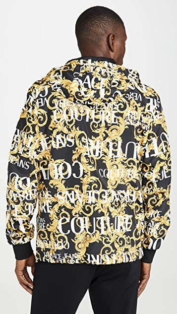 Versace Jeans Couture Logo Baroque Print Reversible Nylon Jacket