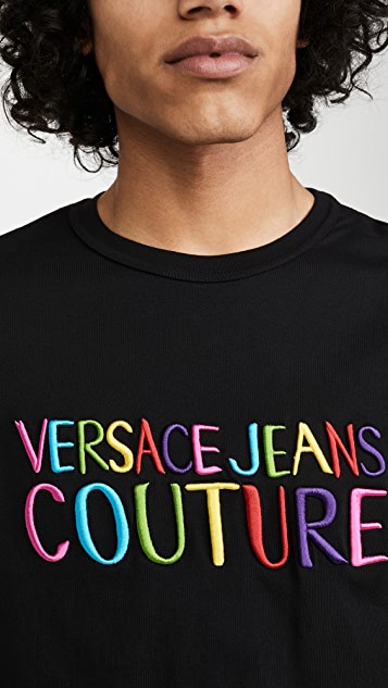 Versace Jeans Couture Rainbow Logo T-Shirt