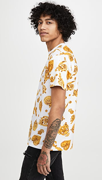 Versace Jeans Couture All Over Logo T-Shirt