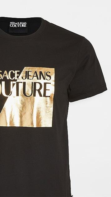 Versace Jeans Couture Gold Foil Logo T-Shirt