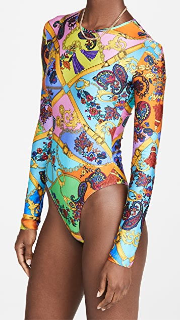 Versace Jeans Couture 腰带印花紧身衣