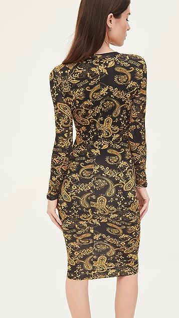 Versace Jeans Couture 腰果花印花连衣裙