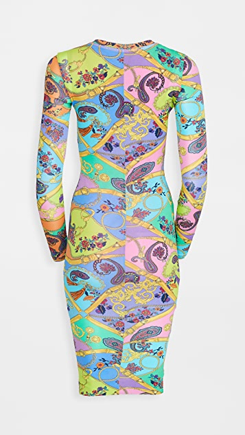 Versace Jeans Couture Belts Print Dress