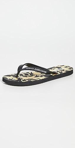 Versace Jeans Couture - Baroque Flip Flops