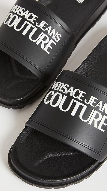 Versace Jeans Couture Logo Slide Sandals