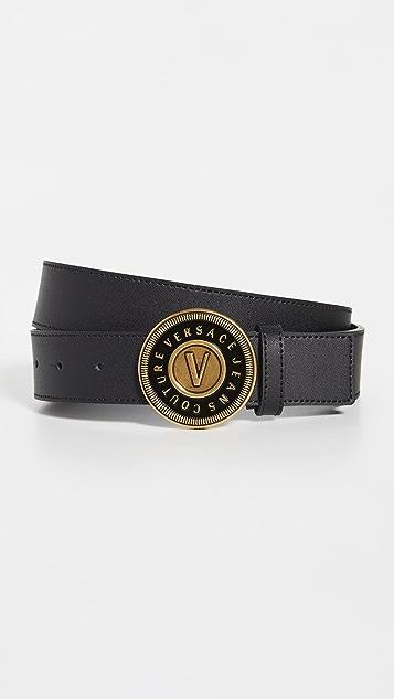 Versace Jeans Couture V-Emblem Buckle Belt