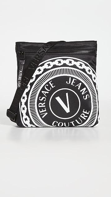 Versace Jeans Couture V Emblem Crossbody Bag