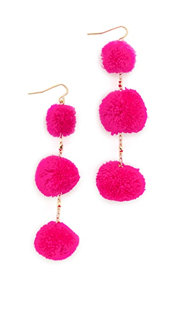 Vanessa Mooney The Dragnet Pom Earrings