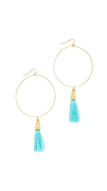 Vanessa Mooney The Summer of Love Tassel Hoop Earrings