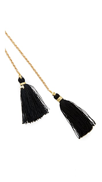Vanessa Mooney The Panther Bolo Necklace