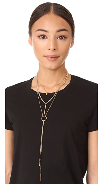 Vanessa Mooney The Juno Triple Chain Necklace