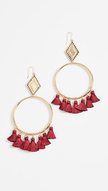 Vanessa Mooney Ania Tassel Hoop Earrings
