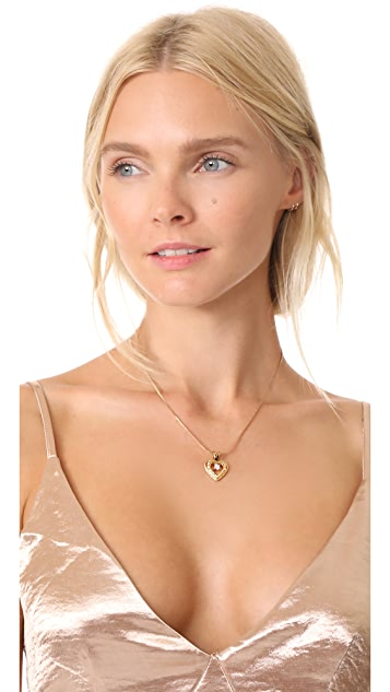 Vanessa Mooney Nora Heart & Crystal Necklace