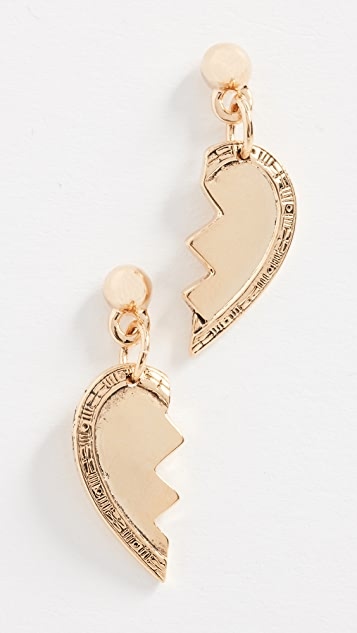 Vanessa Mooney Broken Heart Friendship Earrings