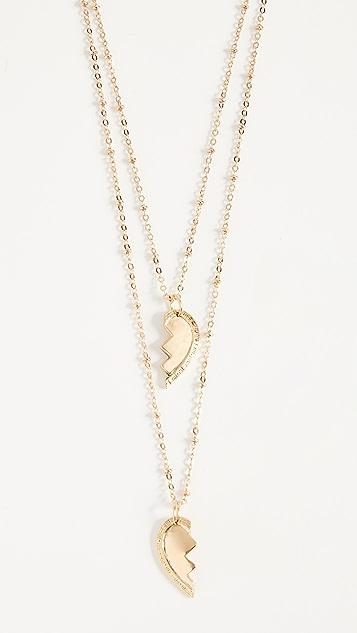 Vanessa Mooney Broken Heart Friendship Necklace